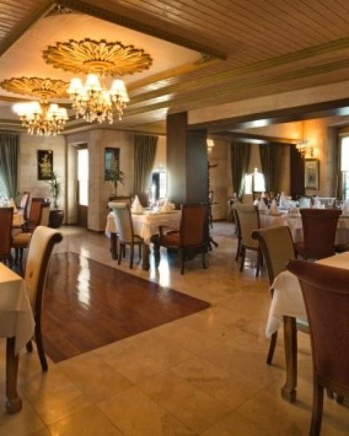 Cappadocia Cave Resort & Spa  ( Cappadocia, Turkey )  Padishah Restaurant serves an eclectic menu of European, Turkish and Japanese dishes. #Jetsetter