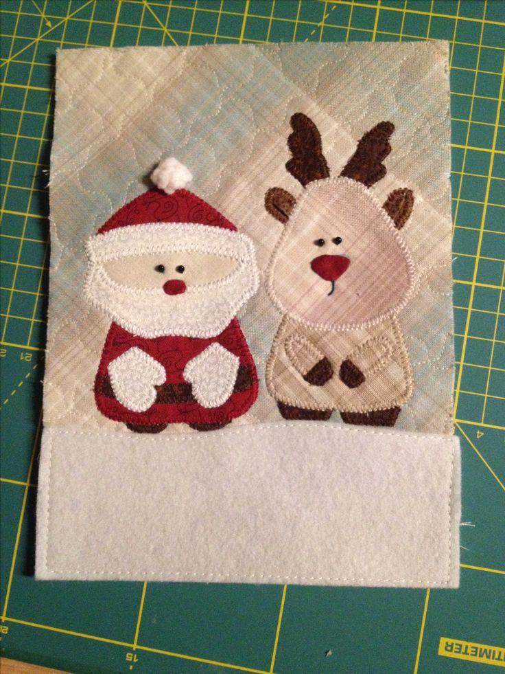 Cartolina tessile natalizia