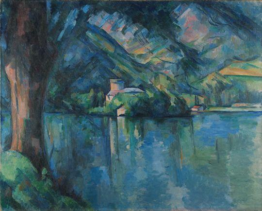 Le lac d'Annecy dit aussi Le lac bleu Paul Cézanne, 1896 Huile sur toile 65 x 81  Londres, Institut Courtauld