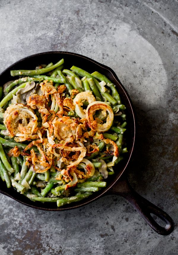 Vegan Green Bean Casserole via @ohmyveggies