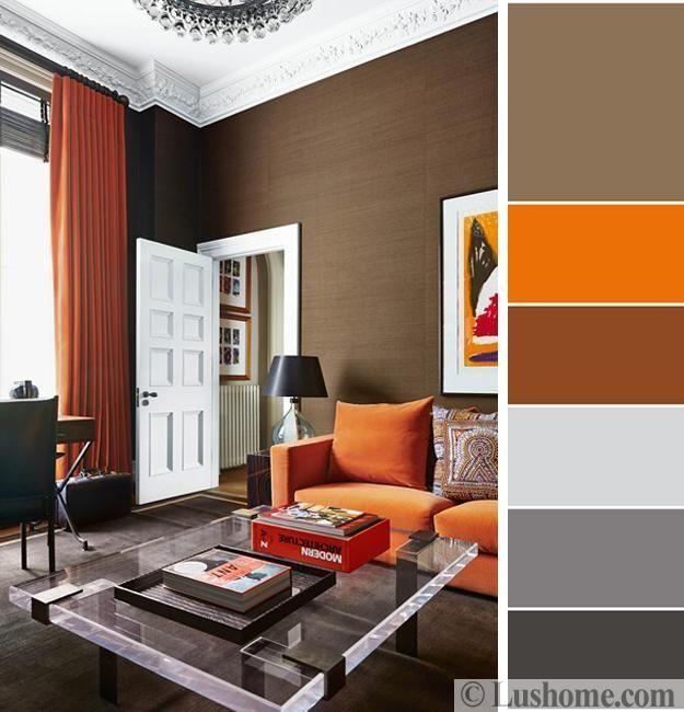 Pin By Shaghayegh Khosro On Home Decor Brown Living Room Decor Color Palette Living Room Living Room Orange