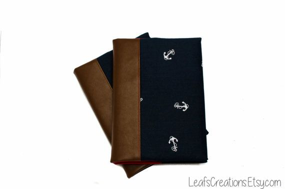 Notebook cover Journal cover Fabric book cover Travelers notebook Leather notebook A5 including notebook LeafsCreations