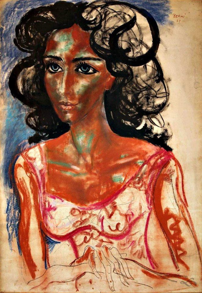 La mujer de los ojos celestes por Antonio Berni