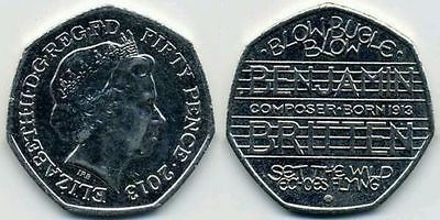 2013 #benjamin britten 50p #pence coin very rare #100th anniversary collectors it,  View more on the LINK: 	http://www.zeppy.io/product/gb/2/121953049077/