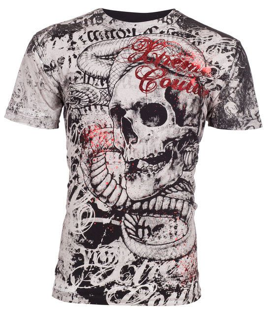 Xtreme Couture AFFLICTION Men T-Shirt TOOTHACHE Skull Tattoo Biker UFC M-4XL $40 | Clothing, Shoes & Accessories, Men's Clothing, T-Shirts | eBay!