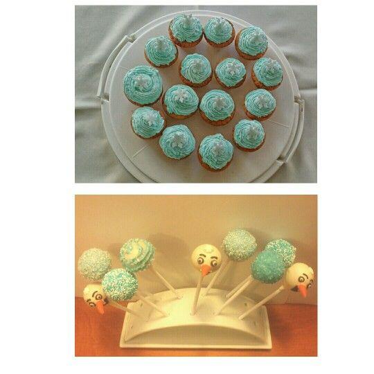 Sweet snowman,  cake pops