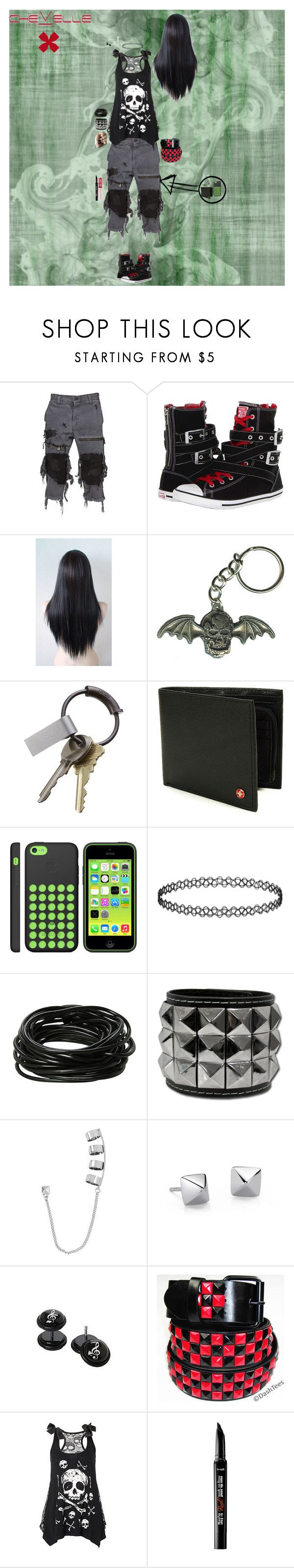 """""""La Gárgola Tour"""" by candy-coated-doom ❤ liked on Polyvore featuring Unholy Matrimony, Converse, CB2, Topshop, Hot Topic, Steve Madden, Blue Nile, Benefit, Lime Crime and chevelle"""