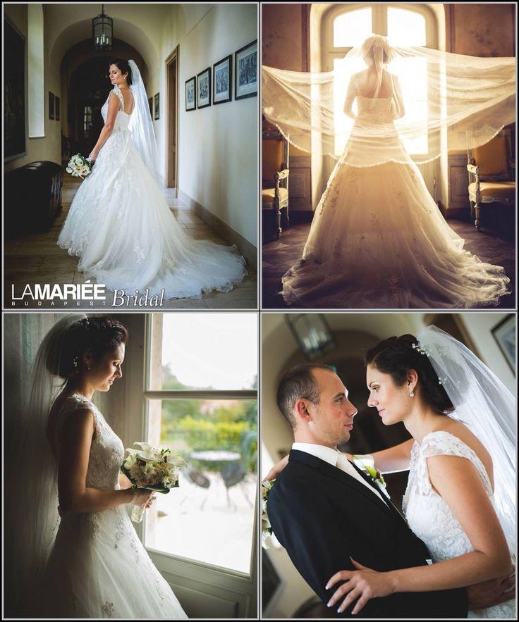 Orsi bride by La Mariée Budapest bridal  #Ofira dress by Pronovias