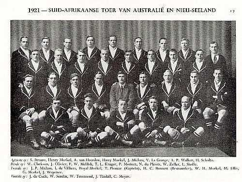 1921 Toer na Aust en NZ..Sarel Strauss links agter