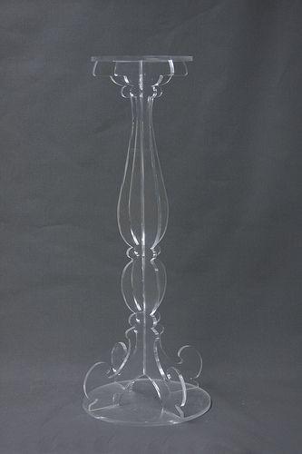 lucite candle pillar holder| www.peregrineplastics.com