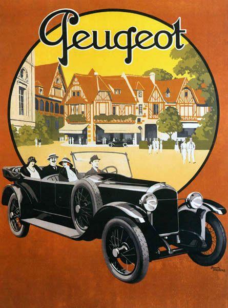 French Old Peugeot Luxury Car Automobile France Vintage Poster Repro Ebay Peugeot Vintage Cars Art Deco Car