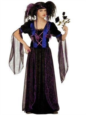 Smuk gotisk prinsesse kjole - Kr. 295,-