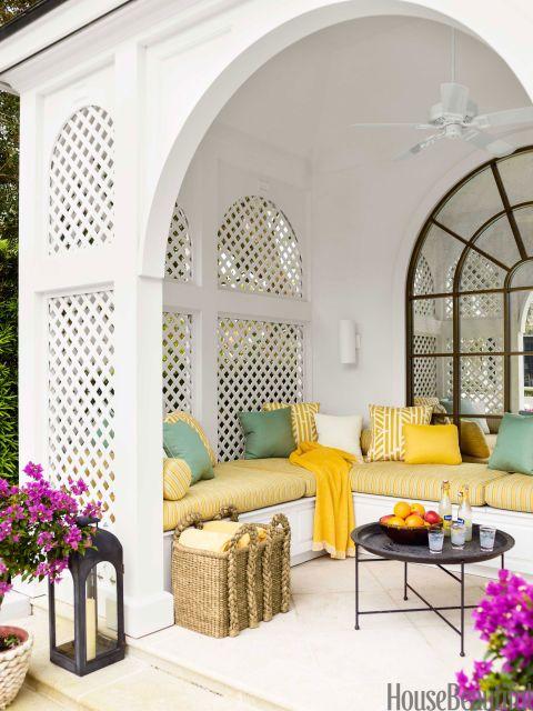 Outdoor Room Design Ideas - Photos of Outdoor Rooms - House Beautiful Outdoor Rooms, Outdoor Living, Outdoor Furniture Sets, Outdoor Decor, Outdoor Seating, Outdoor Patios, Outdoor Kitchens, Outdoor Fabric, Indoor Outdoor