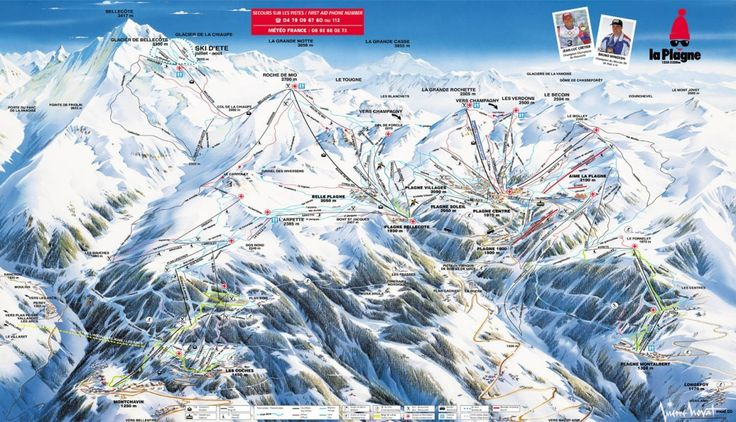 Maps & Piste Maps of La Plagne Discover the essential La Plagne maps and plans