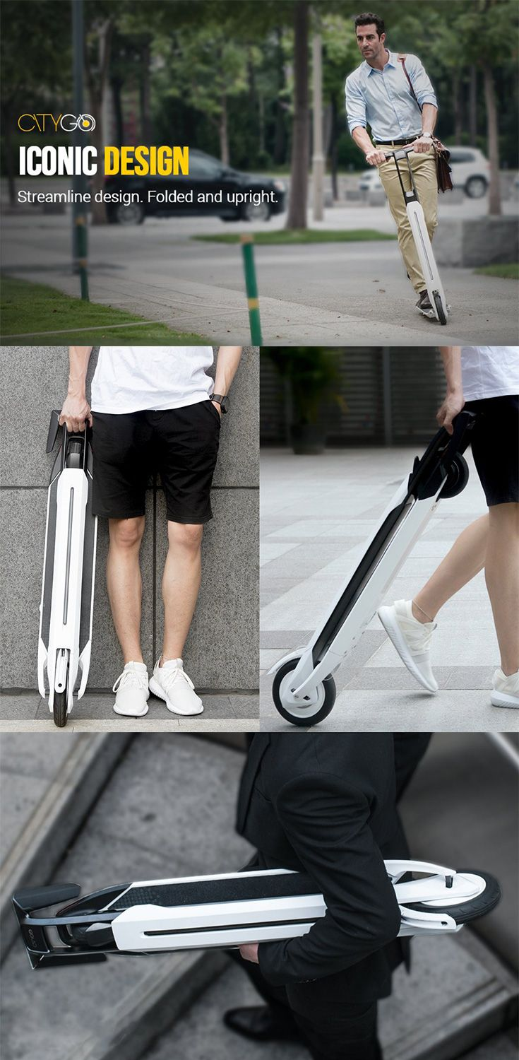 'CityGo' Urban is a carry-able motorized scooter that acts as a compact personal transportation vehicle, it truly explores the concept of urban transportation with its 3 modes of operating system... READ MORE at Yanko Design !