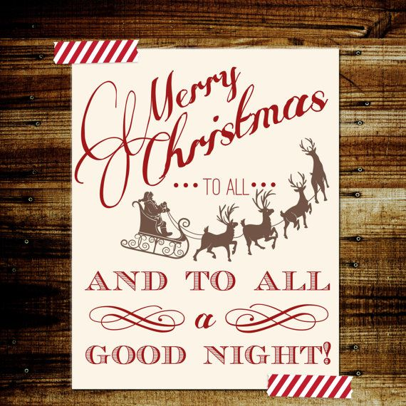 Sale Merry Christmas to all and to all a good by EllesLittleShop, $10.00
