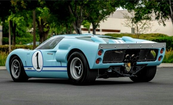 Replica Of Miles Ford Gt Mk Ii N 1 Which Ran At Lm 1966 Used