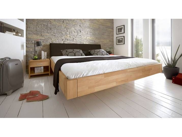 Doppelbett Aus Holz Chessa 140x210 Cm Buche Natur Massivholzbett Floating Bed Bedroom Furniture Design Bed