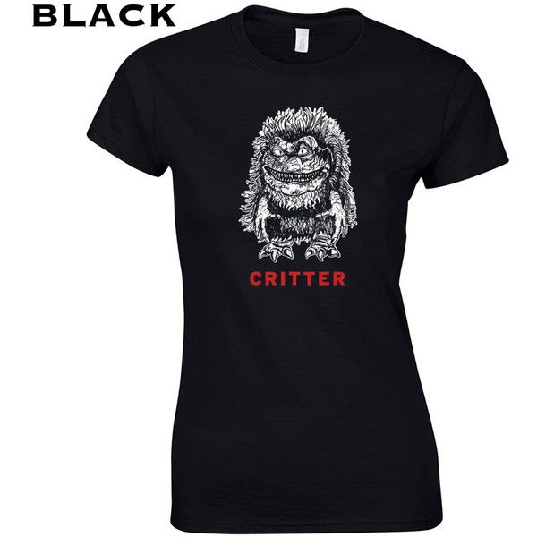 Critter Crites Movie 80s Krites Aliens Ufo Movie Creepy Slasher Horror... ($10) ❤ liked on Polyvore featuring tops, t-shirts, black, women's clothing, eighties t shirts, vintage retro t shirts, vintage cotton t shirts, retro tops and retro tees