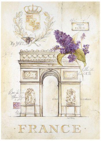 Arc de Triomphe Lilacs Art Print