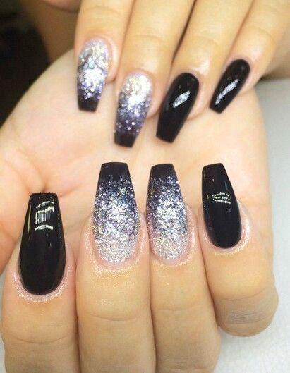 10 Cute and Stunning Black Nail Arts P-8