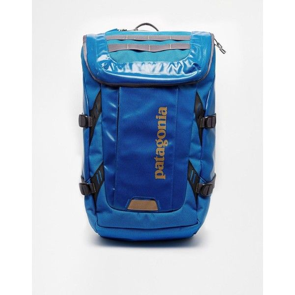 Patagonia Black Hole 35L Backpack (350 RON) ❤ liked on Polyvore featuring bags, backpacks, blue, patagonia backpacks, patagonia daypack, waterproof laptop bag, padded backpack and waterproof rucksack