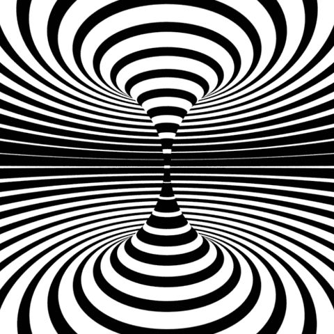 Theres a lot designers can do with just black and white a collection of op art inspired animated art black white only