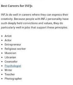 Best Careers for INFJs