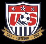 U.S. Soccer Federation 100 year logo. America