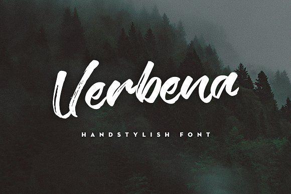 Verbena Handstylish Font by Alif Devan R. on @creativemarket