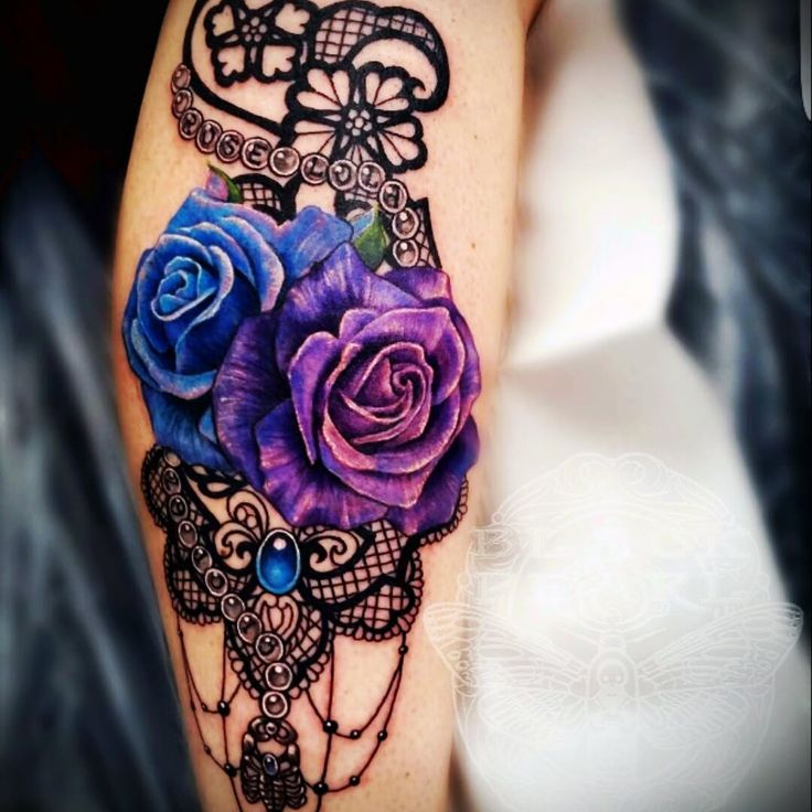 Tattoo uploaded by Sarah- Isabel | Lace tattoo, Purple ...