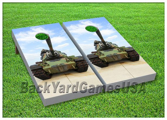 VINYL WRAPS Cornhole Boards DECALs US Army Tank Game Stickers
