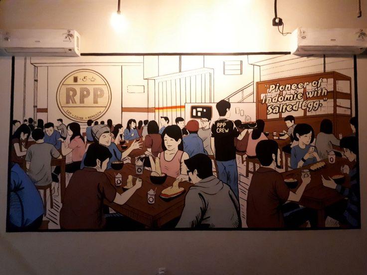 Jasa lukis dinding, jasa mural, jasa dekorasi dinding, Mural Cafe, Jasa Mural Cafe, RPP Gading Serpong-Desain by iMural