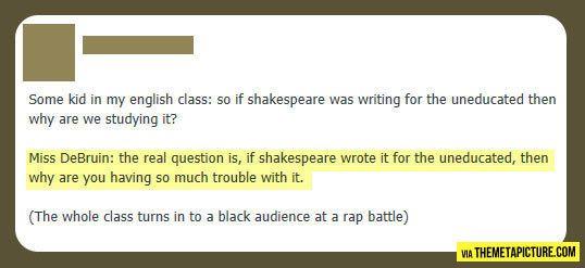 Teacher has a point