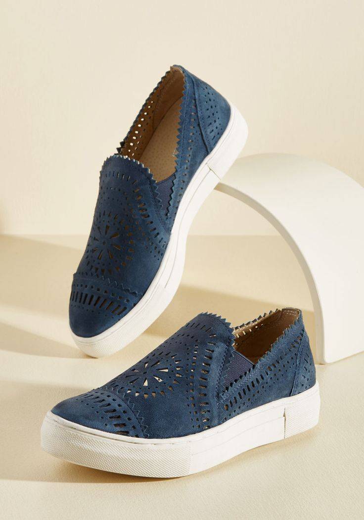 So Nice Suede Slip-On Sneaker. Touchably soft suede? #blue #modcloth