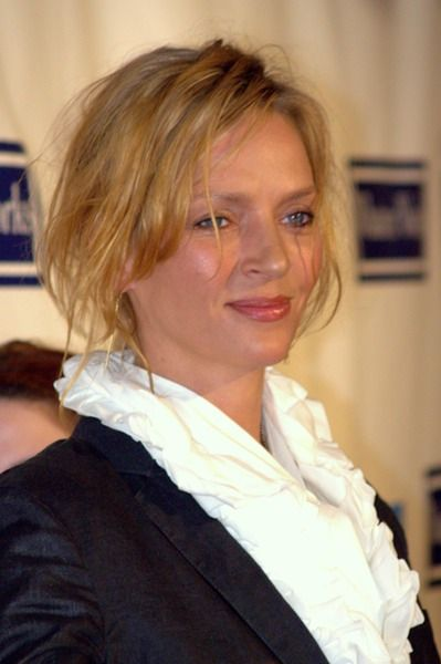 Uma Thurman at the premiere of the Woody Allen film Whatever Works at the 2009 Tribeca Film Festival