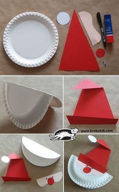 Make a Santa Paper Plate More