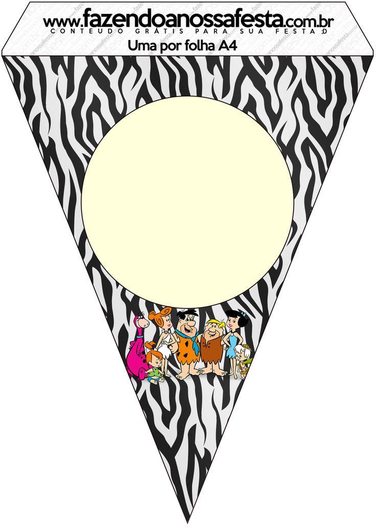 Bandeirinha Varalzinho Flintstones: