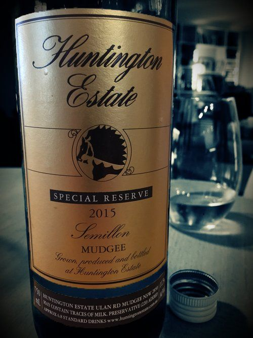 """The Wine Smith tastes the new Huntington Estate Special Reserve Semillon.... """"...the wine whispers."""""""