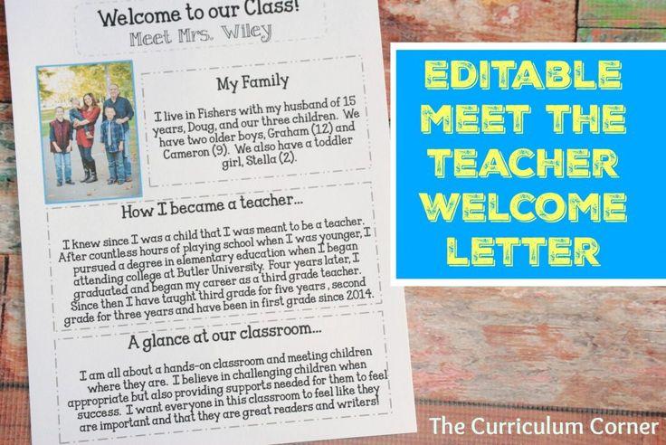 meet the teacher letter editable 2016