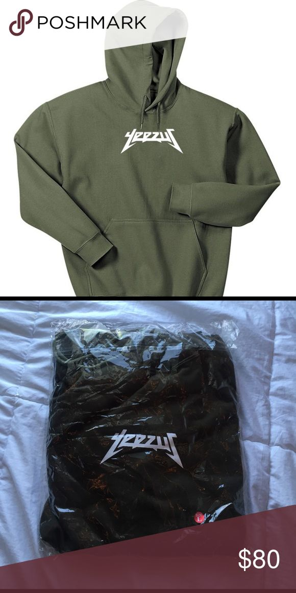🔥Yeezus Hoodie🔥DISCOUNT🔥 *BRAND NEW* 🚨PRICE WENT FROM 149 TO 99!!🚨 Unisex Olive Green Yeezus Hoodie. Size Large. Leave a comment if you'd like to see a black or beige colored hoodie on here and let me know what size and I can get it for you! EVERYTHING IS ON SALE FOR SPRING CLEANING!! Make any offer and let's work something out. Jackets & Coats