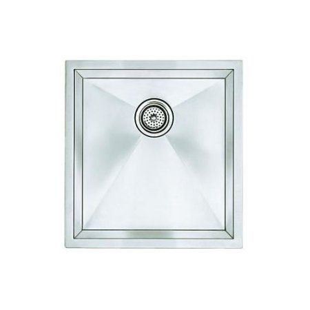 Blanco 516224 Precision 18 inch X 19 inch Single-Basin Stainless Steel Undermount Kitchen Sink, Stainless Steel, Silver