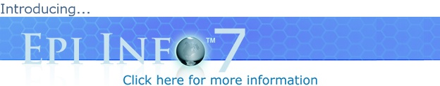 Data analysis tool from CDC: Epi Info™ 7