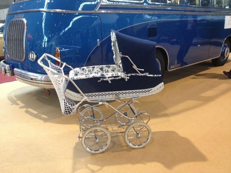 Gu-Tri Oldtimer Retro original Baby Kinderwagen 70er mit Zubehör Top Zustand