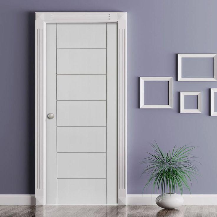 Bespoke Palermo Fire Door - 1/2 Hour Fire Rated and White Primed - Lifestyle Image.  #bespokefiredoor #internalfiredoor #madetosizedoor