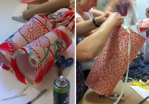 Recovering Lampshades Workshop