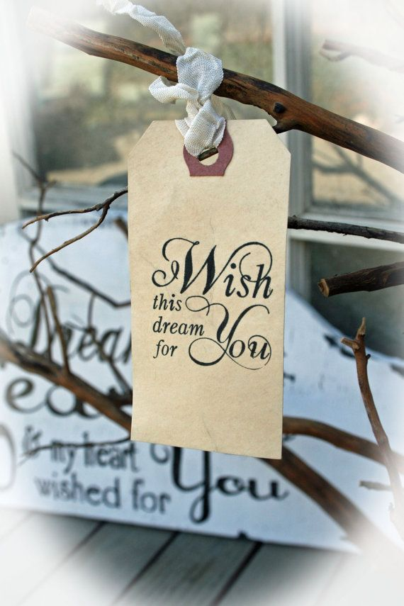 25 Wishing Tree Tags Bridal Shower Guest