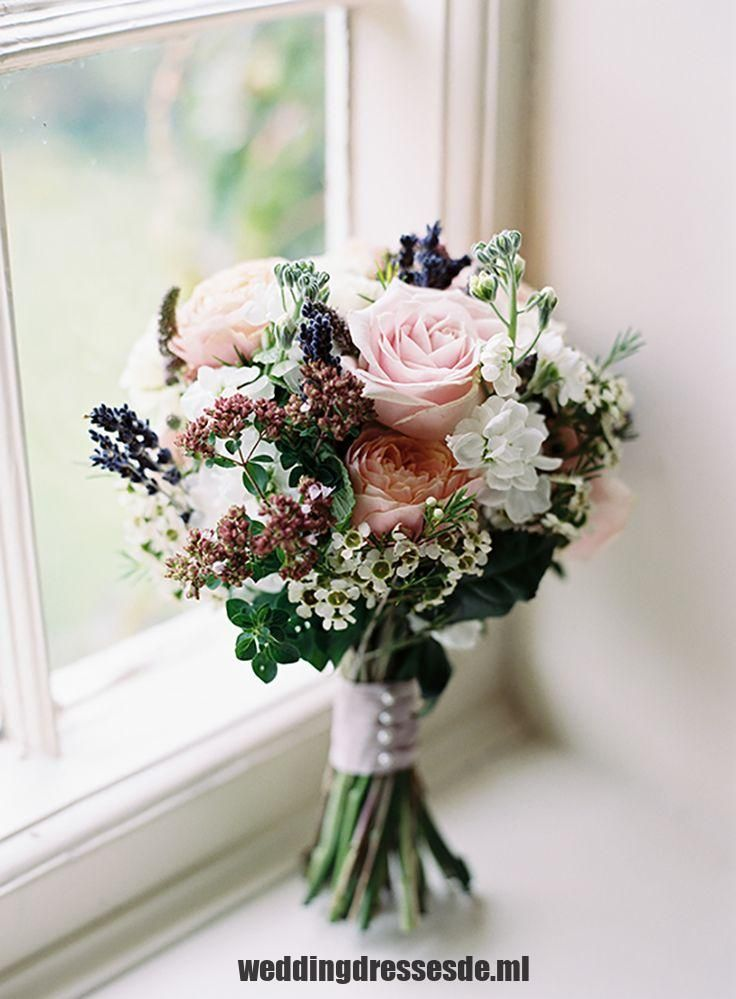 Pfingstrose Rose Lavendel Bouquet Braut Braut Blumen Rosa Lila