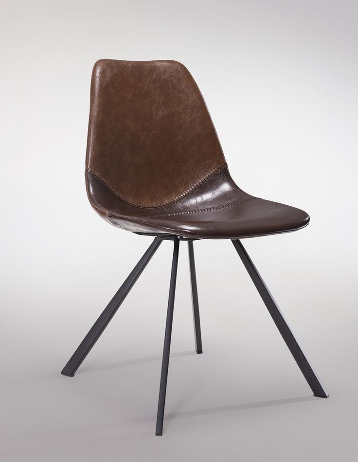 PITCH Chair with baseball stitches #HomeDecoration #NewClassic #Brown #Leather #DanForm #LivingStyle