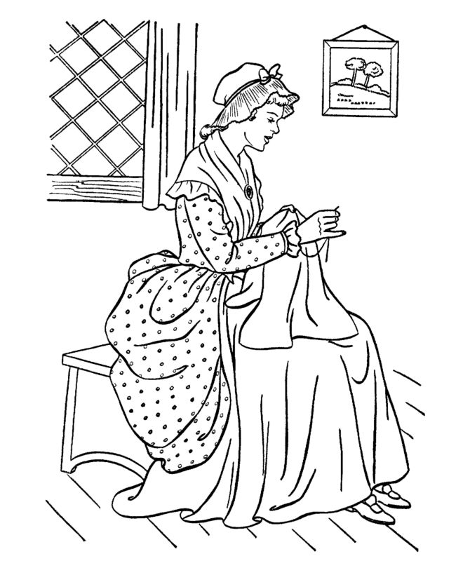 free printable early american life coloring pages showing american history home life occupations and culture coloring pages - Amish Children Coloring Book Pages